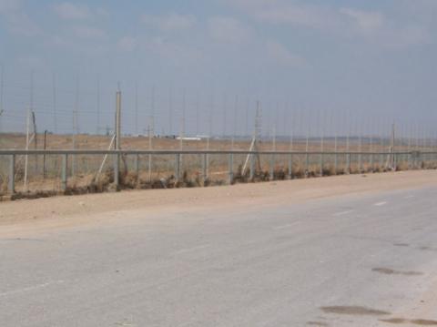 A fence encircling Gaza