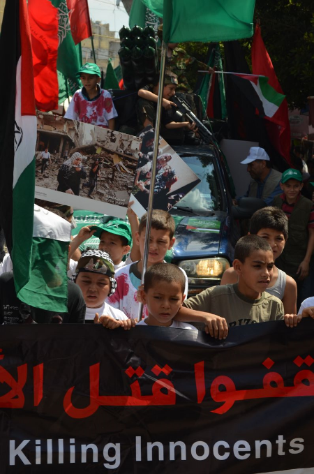 Political factions are brought together through daily demonstrations over the current war on Gaza
