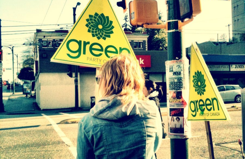 Green Party canvasser