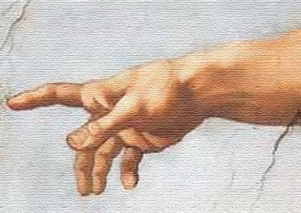 God's hand; Sistine Chapel