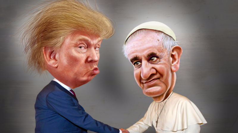 Trump and Pope Francis
