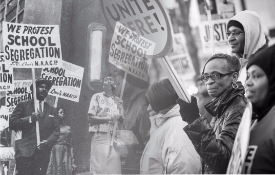 Civil rights and black lives matter protests