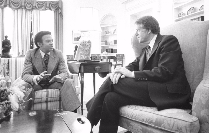 Young and Carter in the Oval Office