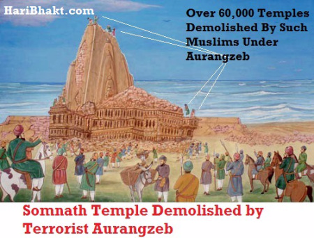 """Somnath Temple Destruction by Aurangzeb"""