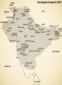 The Mughal Empire in 1707