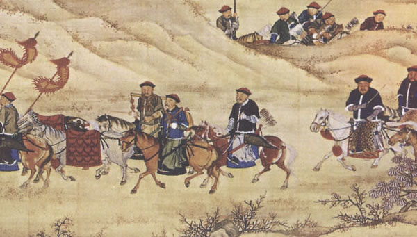 Qing hunting party