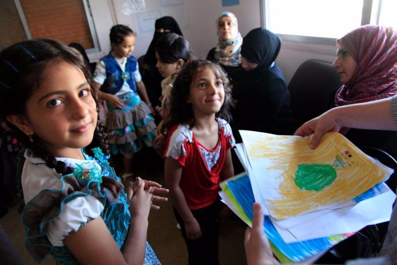 Refugee children from Syria
