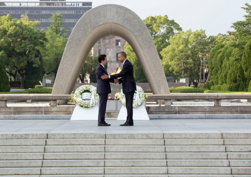 Shinzō Abe and Barack Obama