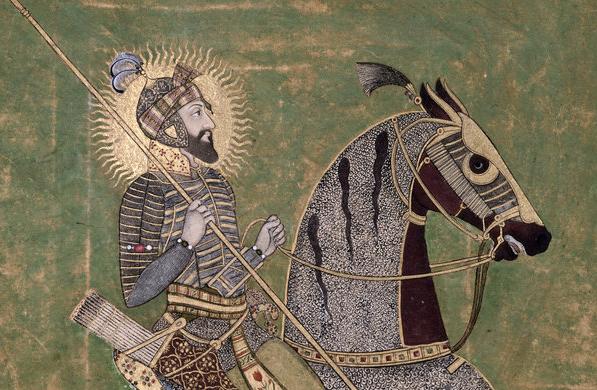 Emperor Aurangzeb on horseback