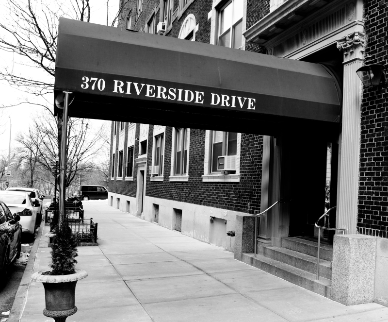 370 Riverside Drive, which Hannah Arendt lived in from 1959 until her death in 1975.