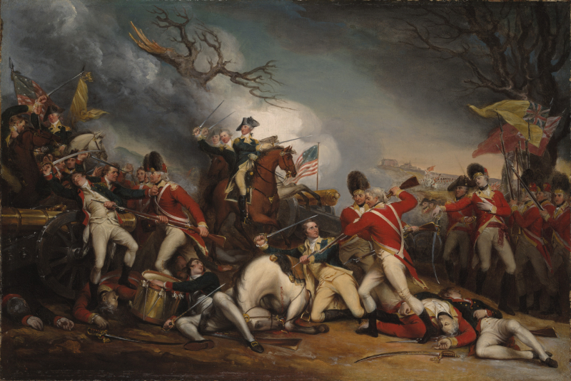 Painting of The Death of General Mercer at the Battle of Princeton, January 3, 1777 by John Trumbull