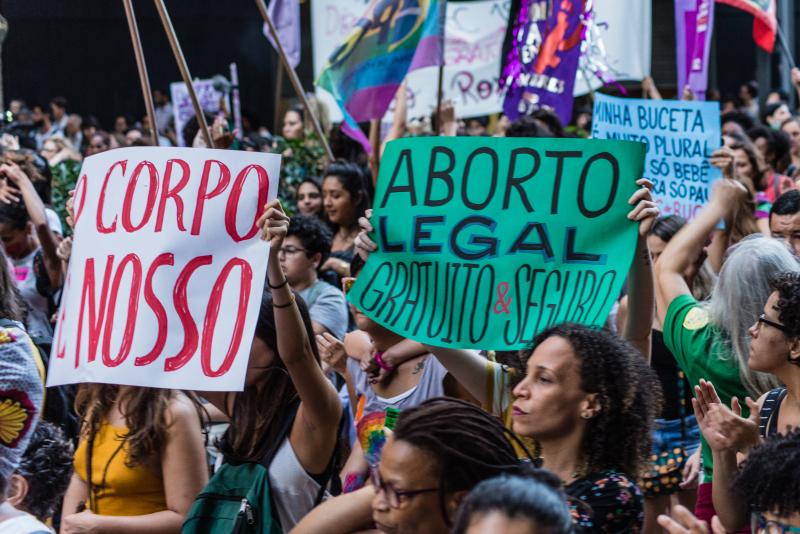 A protest on November 13, 2017 in Rio de Janeiro.