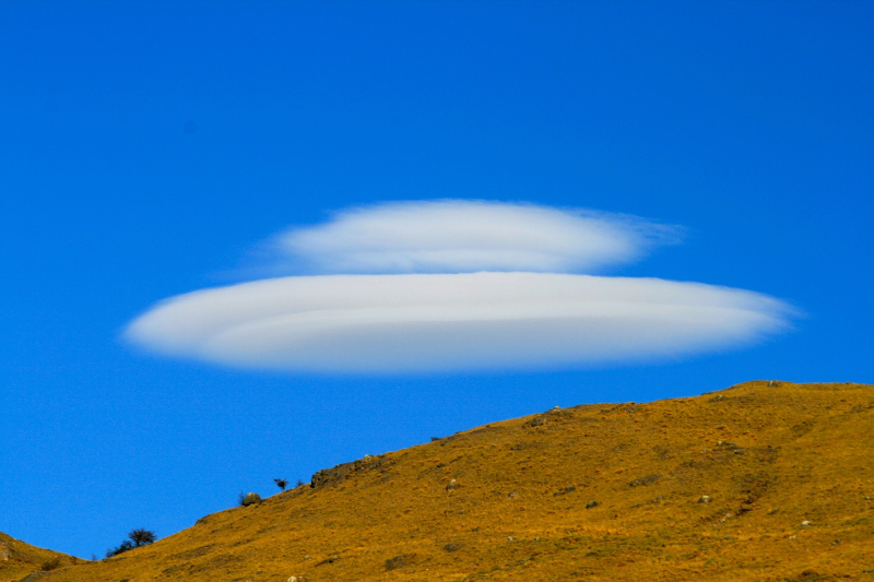 UFO shaped cloud