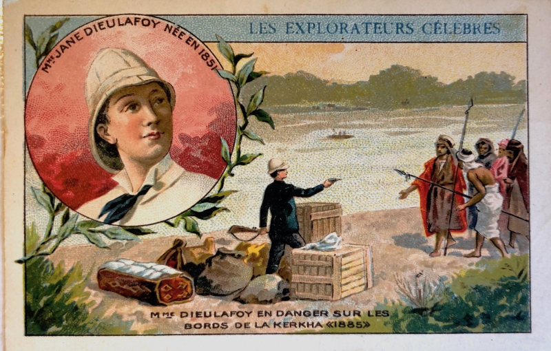 Card depicting Jane Dieulafoy
