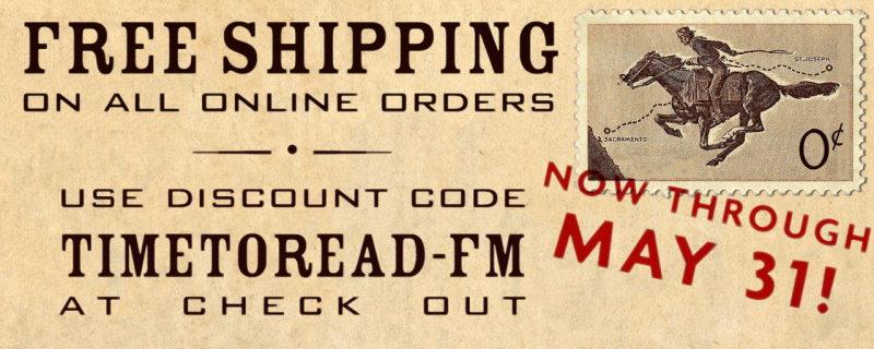 free shipping on all online orders through sup.org with the discount code TIMETOREAD-FM until May 31st.