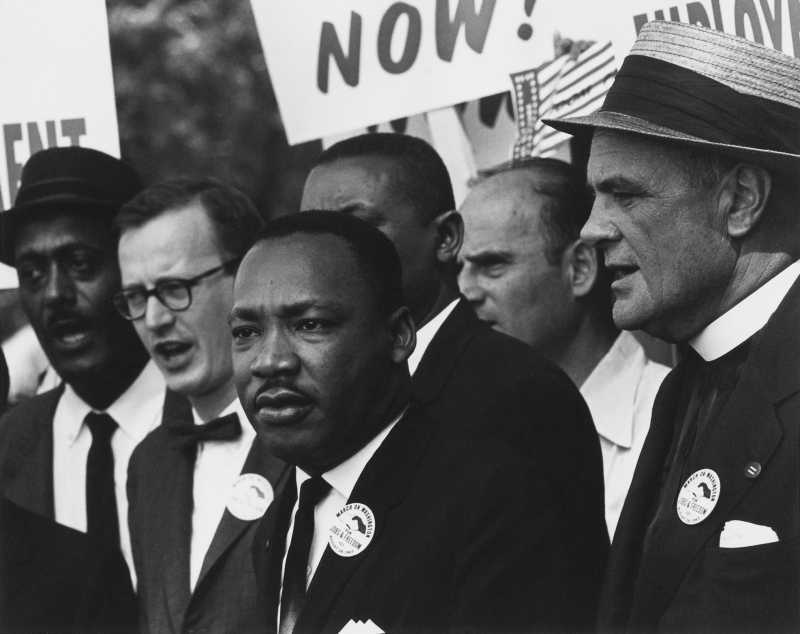 Civil_Rights_March_on_Washington _D.C._(Dr._Martin_Luther_King _Jr._and_Mathew_Ahmann_in_a_crowd.)_-_NARA_-_542015_-_Restoration